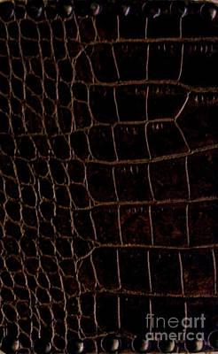 Wrap Digital Art - Alligator Look Abstract by Marsha Heiken