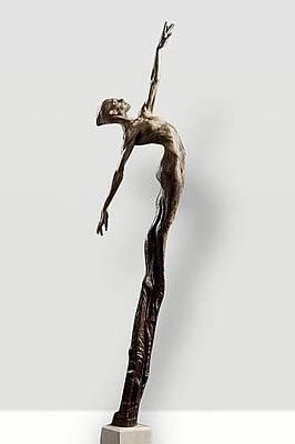 Richard Macdonald Sculpture - Allonge Third Life by Richard MacDonald