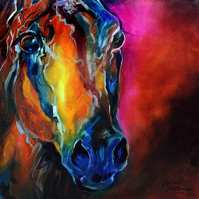 Horse Eye Painting - Allure Arabian by Marcia Baldwin