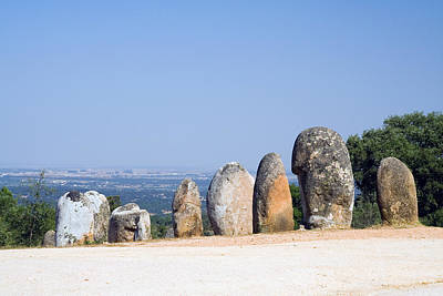 Megalith Photograph - Almendres Cromelech by Andre Goncalves