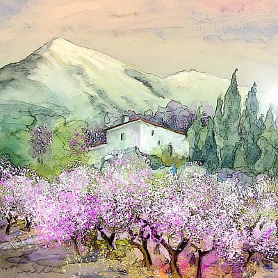 Altea Painting - Almond Trees In Altea La Vieja by Miki De Goodaboom