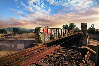 Train Tracks Photograph - Almost Home by Laurie Search