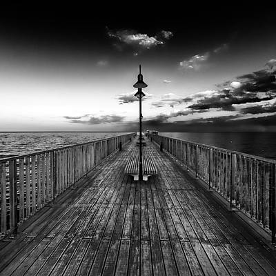 Wooden Platform Photograph - Almost Infinity by Stelios Kleanthous