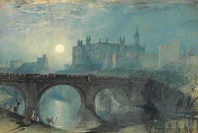 Alnwick Castle Print by Joseph Mallord William Turner