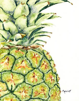 Pineapple Painting - Aloha Again by Marsha Elliott