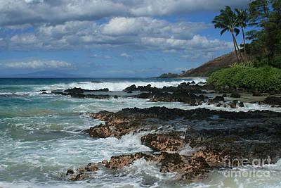 Aloha Island Dreams Paako Beach Makena Secret Cove Hawaii Print by Sharon Mau