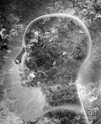 Emotion Mixed Media - Alone by Jacky Gerritsen