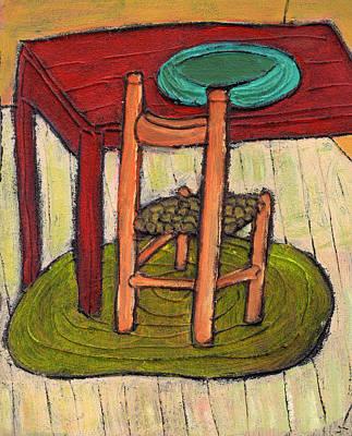 Kitchen Chair Painting - Alone by Wayne Potrafka