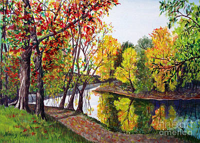 Painting - Along The Blanchard by Nancy Cupp