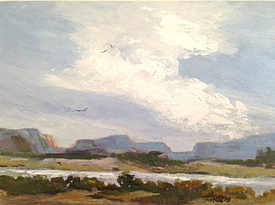 Painting - Along The Columbia by Helen Harris