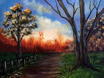 Painting - Along The Path by Janet Jackson