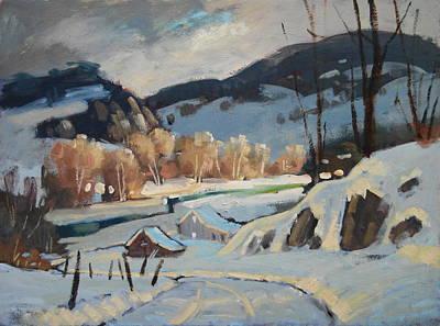 Along The River Original by Len Stomski