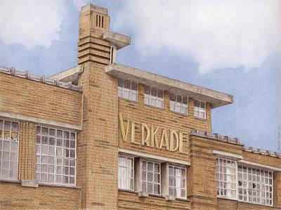 Netherlands Mixed Media - Along The River Zaan Verkade Factory by Rob De Vries