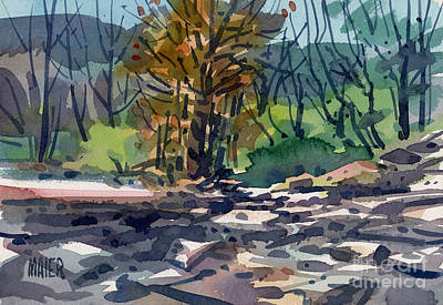 Along The Russian River Print by Donald Maier