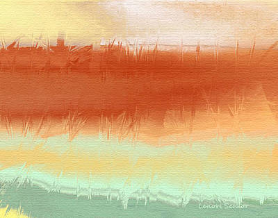 Digital Pastel Painting - Along The Side Of The Highway by Lenore Senior