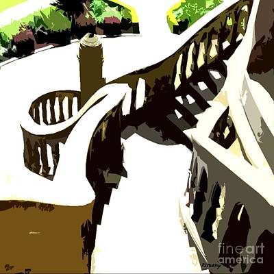 Nature Abstract Mixed Media - Along The Spiral Stairway by Patrick J Murphy