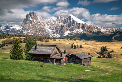 Dolomite Photograph - Alpe Di Suisi Cabin by James Udall