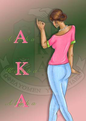 Alpha Kappa Alpha Print by BFly Designs