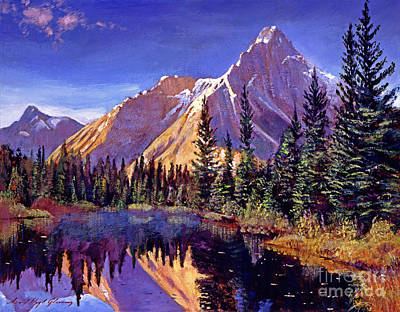 High Sierra Painting - Alpine Lake Mist by David Lloyd Glover