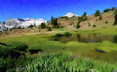 Yosemite National Park Mixed Media - Alpine Meadow By Frank Lee Hawkins by Frank Hawkins Eastern Sierra Gallery