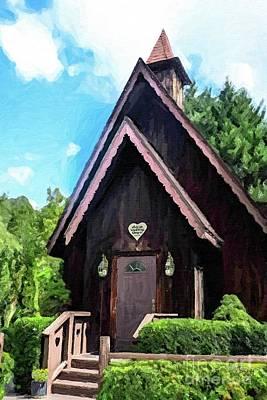 Painting - Alpine Wedding Chapel by Tammy Lee Bradley