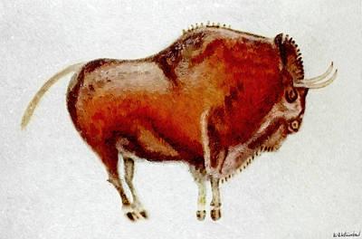 Chauvet Cave Painting - Altamira Prehistoric Bison by Weston Westmoreland
