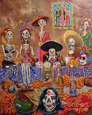 Altar De Muertos Original by Nancy Almazan