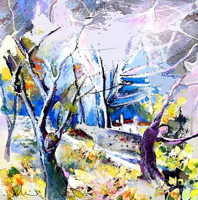 Altea Painting - Altea La Vieja 05 by Miki De Goodaboom