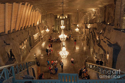 Structure Photograph - Alter In St. Kinga's Chapel Inside Wieliczka Salt Mine In Poland by Michal Bednarek