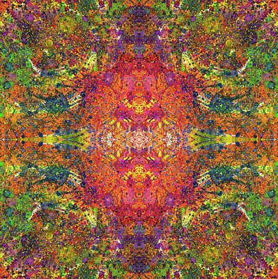 Altered States Of Consciousness #1541 Print by Rainbow Artist Orlando L aka Kevin Orlando Lau
