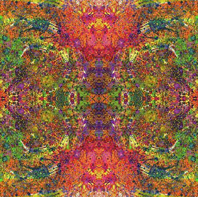 Altered States Of Consciousness #1542 Print by Rainbow Artist Orlando L aka Kevin Orlando Lau