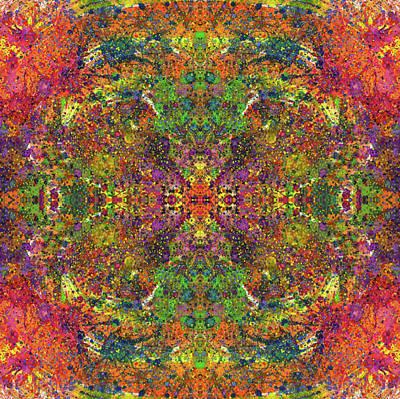 Altered States Of Consciousness #1543 Print by Rainbow Artist Orlando L aka Kevin Orlando Lau