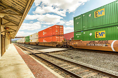 Altoona Rail Traffic Print by Eclectic Art Photos
