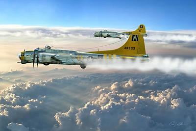O-2 Digital Art - Aluminum Overcast Skies by Peter Chilelli