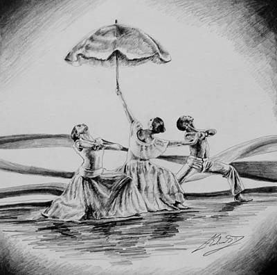 Alvin Ailey Drawing - Alvin Ailey's Revelations Study by Alphonso Edwards II