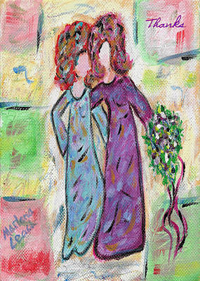Unity Painting - Always A Bridesmaid - Card by Marlena Colino Leach