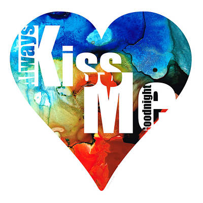 Always Kiss Me Goodnight 6 - Valentine's Day Print by Sharon Cummings