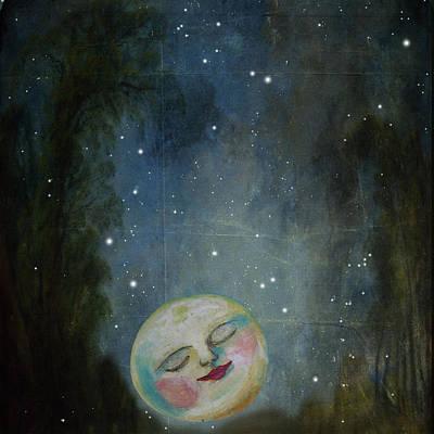 Annabelle Digital Art - Always Kiss The Moon Goodnight by Anna Belanger