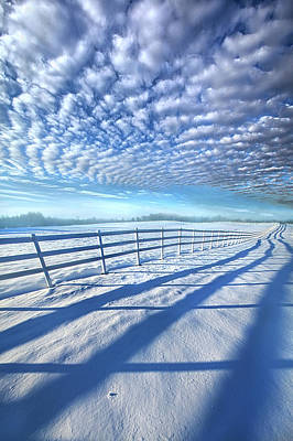 Always Whiter On The Other Side Of The Fence Print by Phil Koch