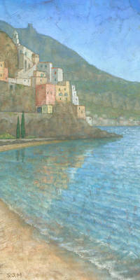 Townscape Painting - Amalfi by Steve Mitchell