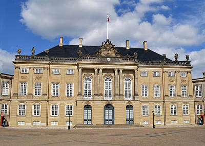 Amalienborg Palace. Print by Terence Davis