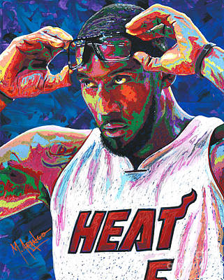 New York Knicks Painting - Amare Stoudemire by Maria Arango