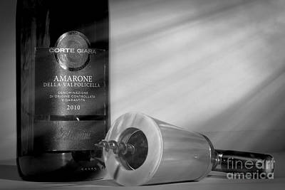 Amarone Wine And Ivory Corkscrew Print by Stefano Senise
