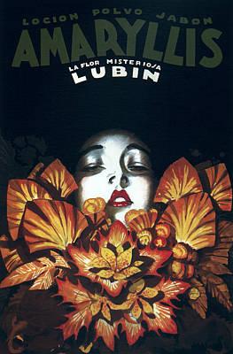 Hairstyle Digital Art - Amaryllis Beauty Lotion Vintage Ad 1929 by Daniel Hagerman