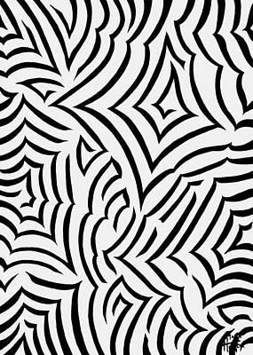 Abstract Zebra Painting - Amazed by Tara Hutton