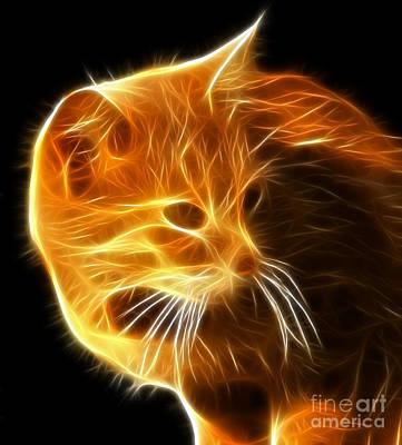 Owner Mixed Media - Amazing Cat Portrait by Pamela Johnson