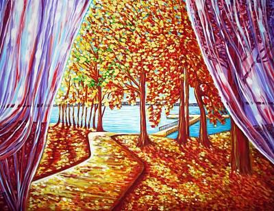 Spirit Catcher Painting - Amazing Indian Summer by Katreen Queen