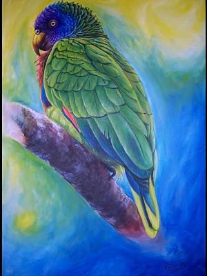 St. Lucia Parrot Painting - Amazona Versicolor-st.lucia Parrot by Ross Daniel