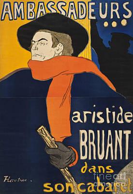 Ambassadeurs Aristide Bruant Print by Henri de Toulous
