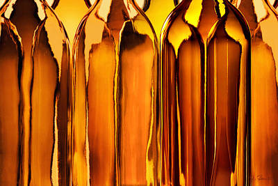Glass Photograph - Amber Abstraction by Joe Bonita